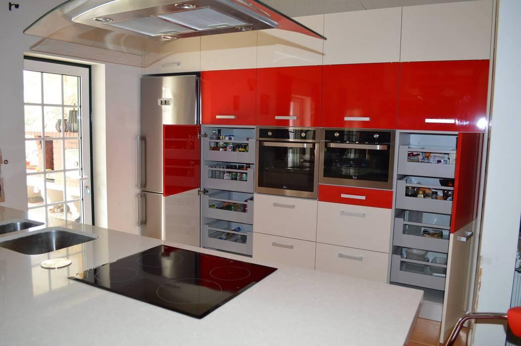Topo da cozinha Cozinhas modernas por Ansidecor Moderno Derivados de madeira Transparente