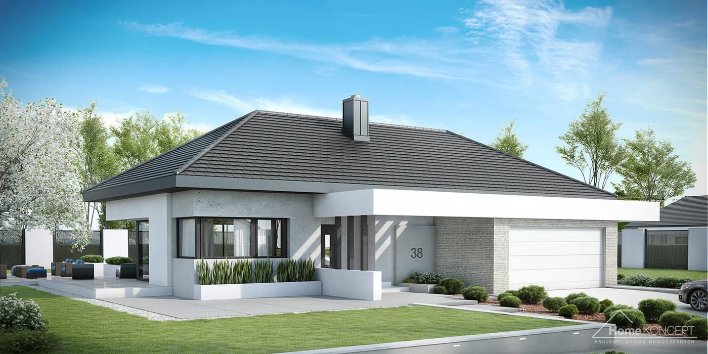 Casas modernas de HomeKONCEPT | Projekty Domów Nowoczesnych Moderno