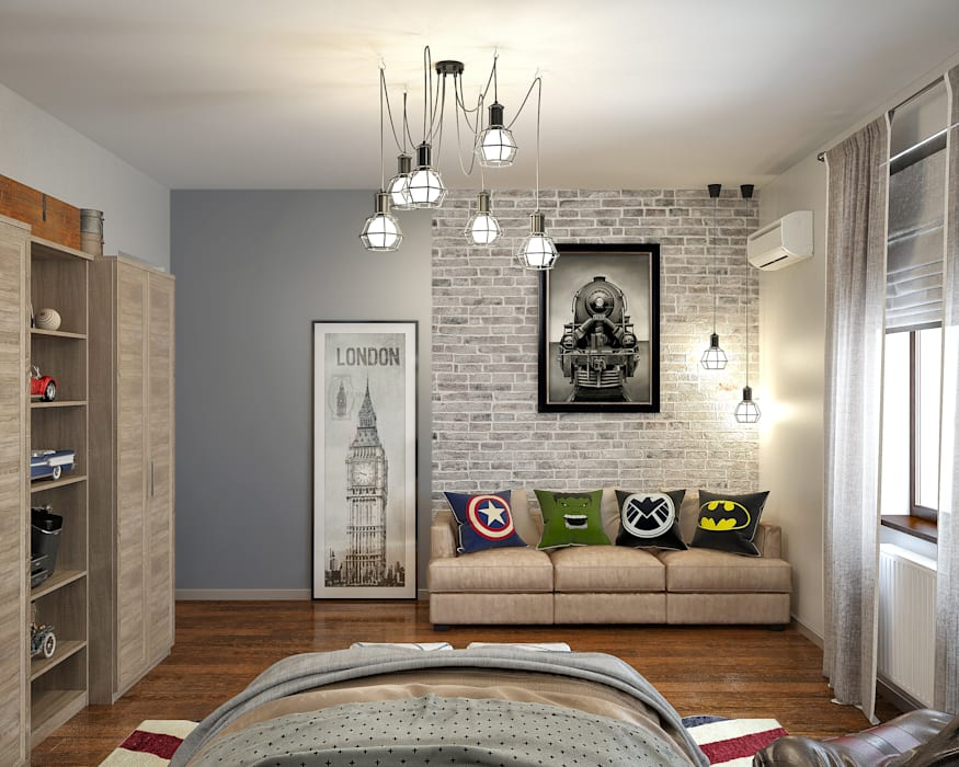 Sweet Home Design Industrial style bedroom