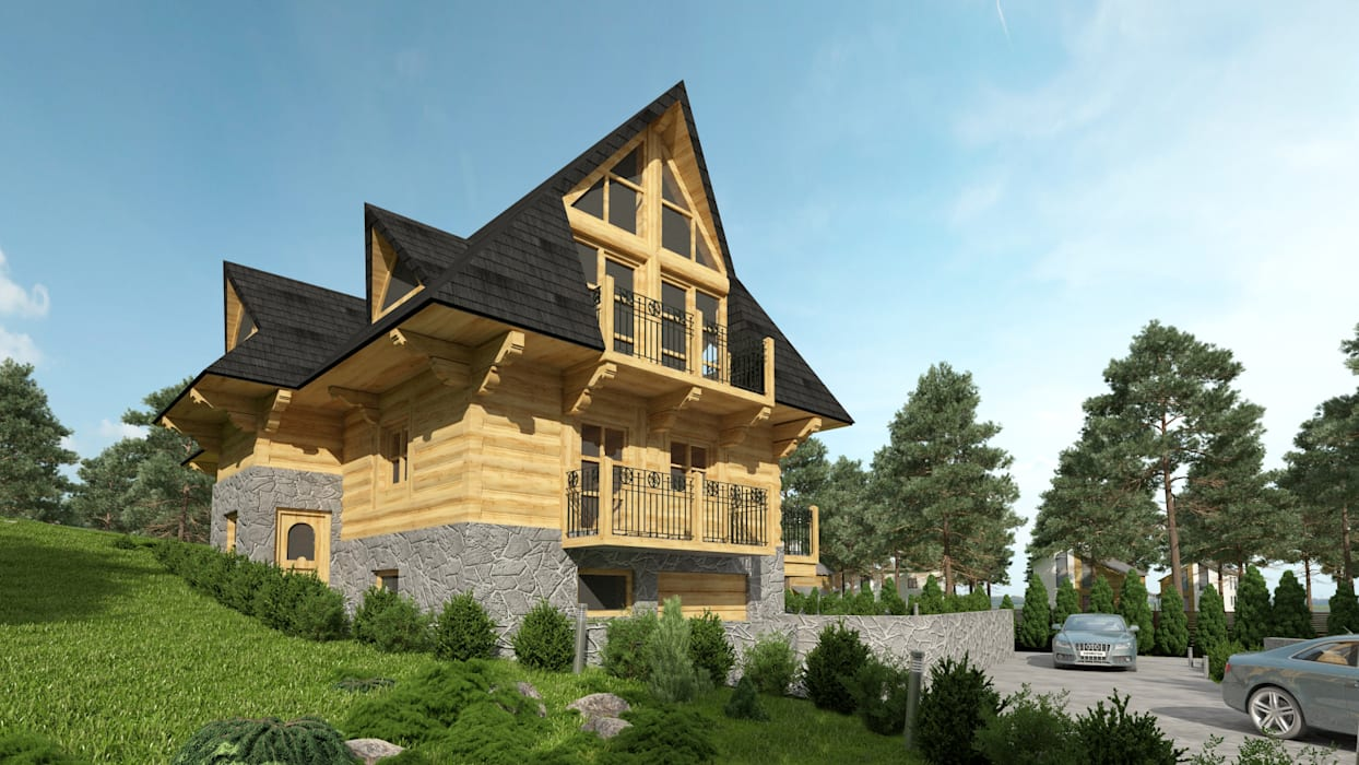 Country style house by Project Harmonia Pracownia Architektoniczna Country