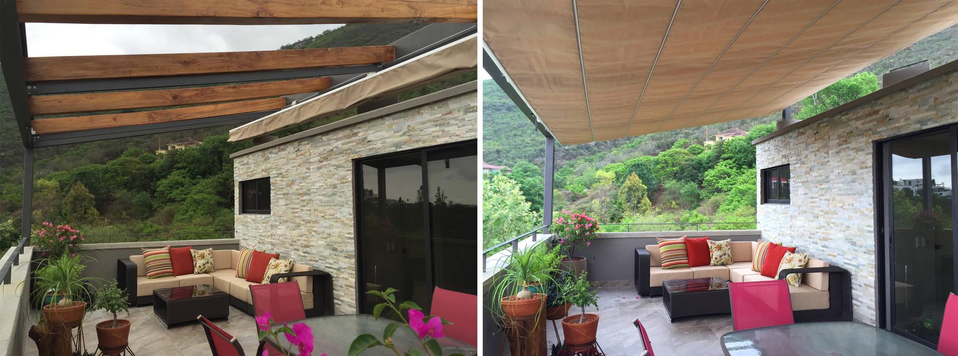 Terraza: Terrazas de estilo  por ICAZBALCETA Arquitectura y Diseño,