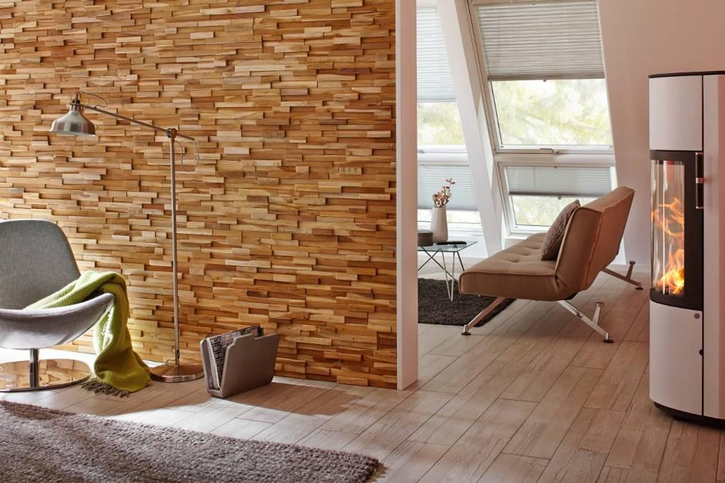 Holzpaneele – holz design: wohnzimmer von rimini baustoffe gmbh | homify