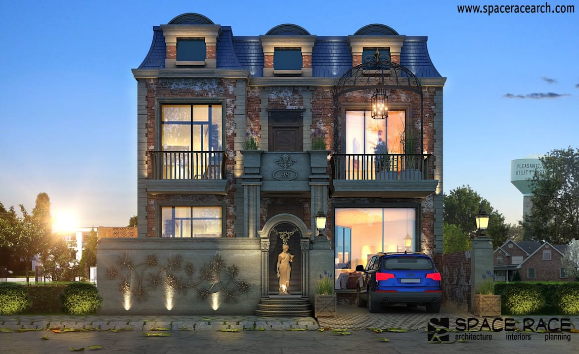 Residence at Lajpat Nagar Jalandhar (Bantu Sabhawal) Classic style houses by Spacerace Classic