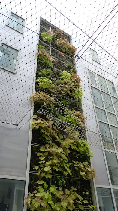 Façade végétalisée / Mur végétal extérieur VERTICAL FLORE: Maisons de style de style Industriel par Vertical Flore