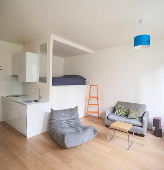Espace chambre / dressing / cuisine: Chambre de style de style Moderne par Olivier Olindo Architecte