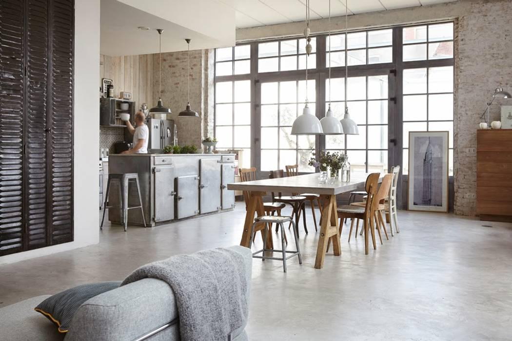 Industrial rivisitato Sala da pranzo in stile industriale di Design for Love Industrial