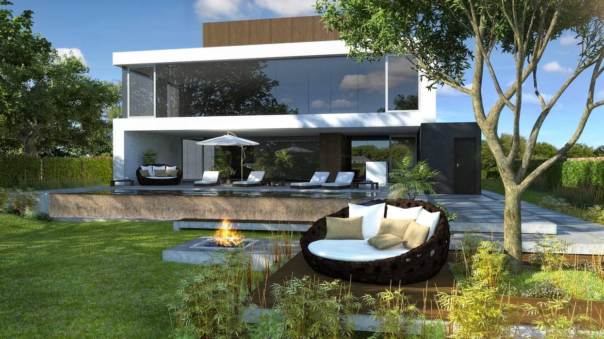 Casa Golf Casas minimalistas de MODULUS ARQUITECTURA Minimalista