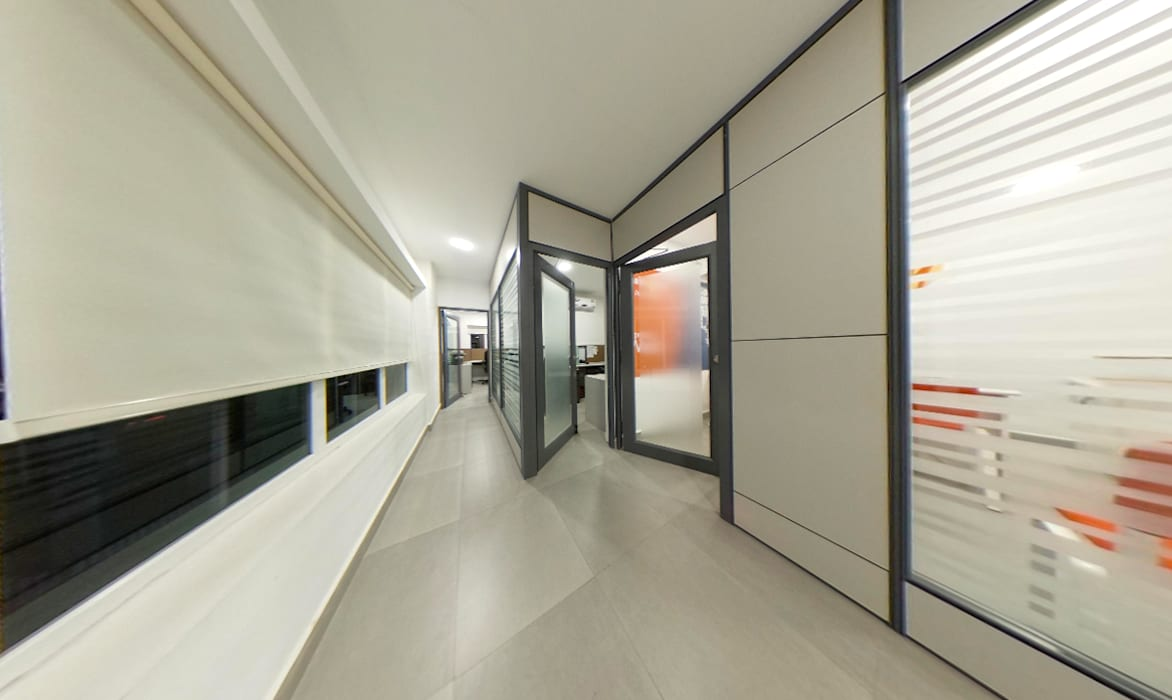 The corridor Minimalist office buildings by Designink Architecture and Interiors Minimalist