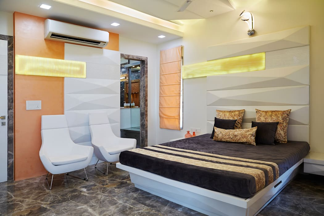 SADHWANI BUNGALOW:  Bedroom by Square 9 Designs,