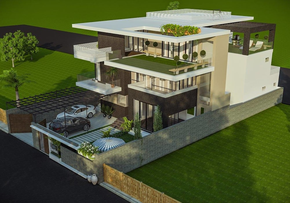 Private residence at Gwalior :  Houses by Vinyaasa Architecture & Design,