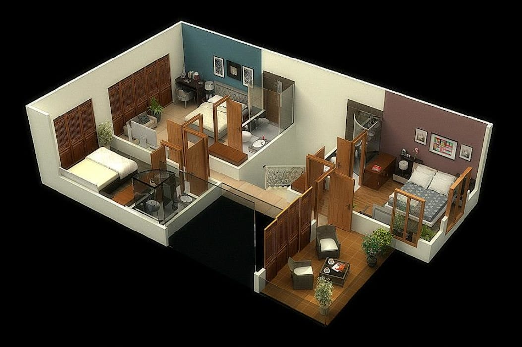 residential colony Vinyaasa Architecture & Design Asian style walls & floors