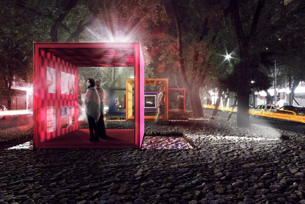 Vista noche: Jardines de estilo moderno por All Arquitectura