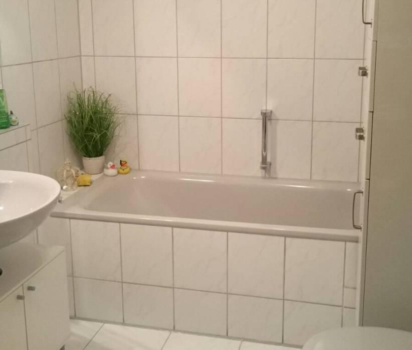 Vorher: fliesen in weiß moderne badezimmer von resimdo ...