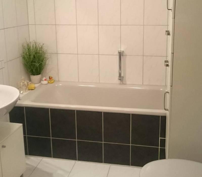 Nachher: fliesen anthrazit akzente moderne badezimmer von ...