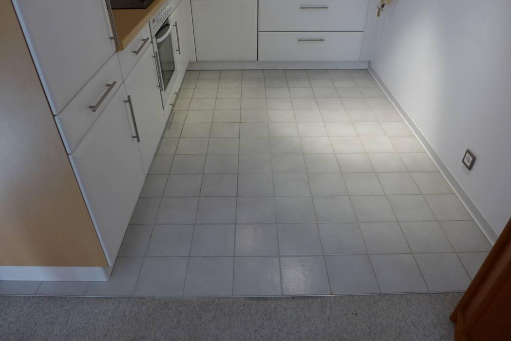 Fußboden Fliesen Rustikal ~ Vorher bodenfliesen weiß küche von resimdo homify