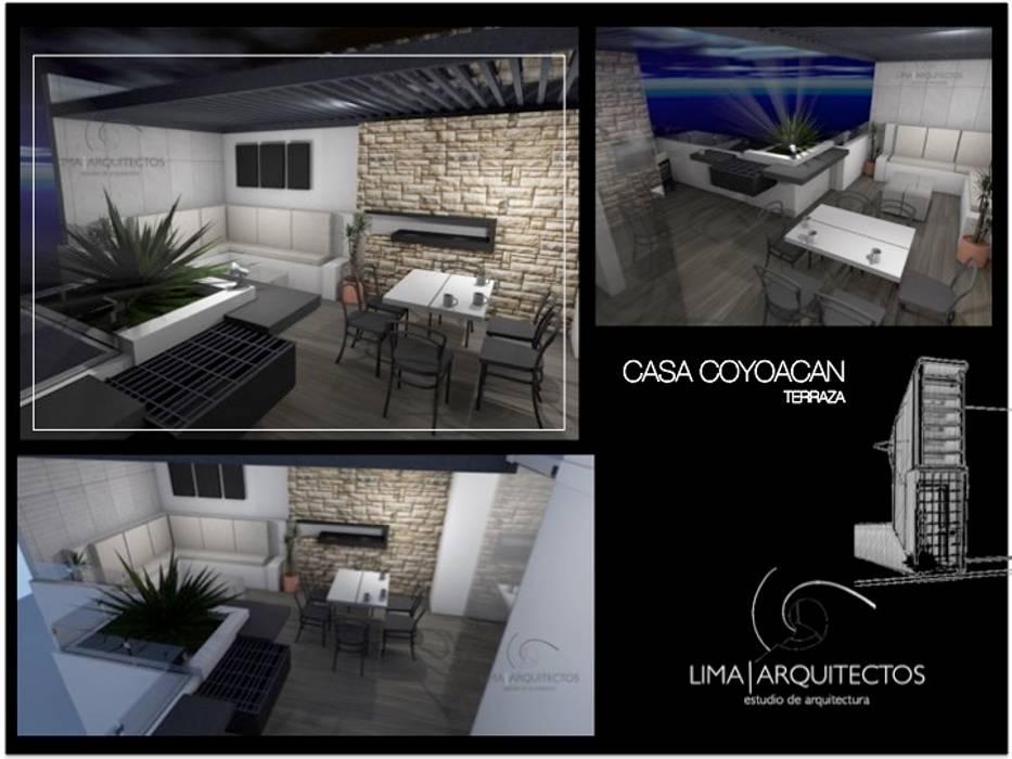Casa Coyoacan Balcones Y Terrazas Modernos De Lima