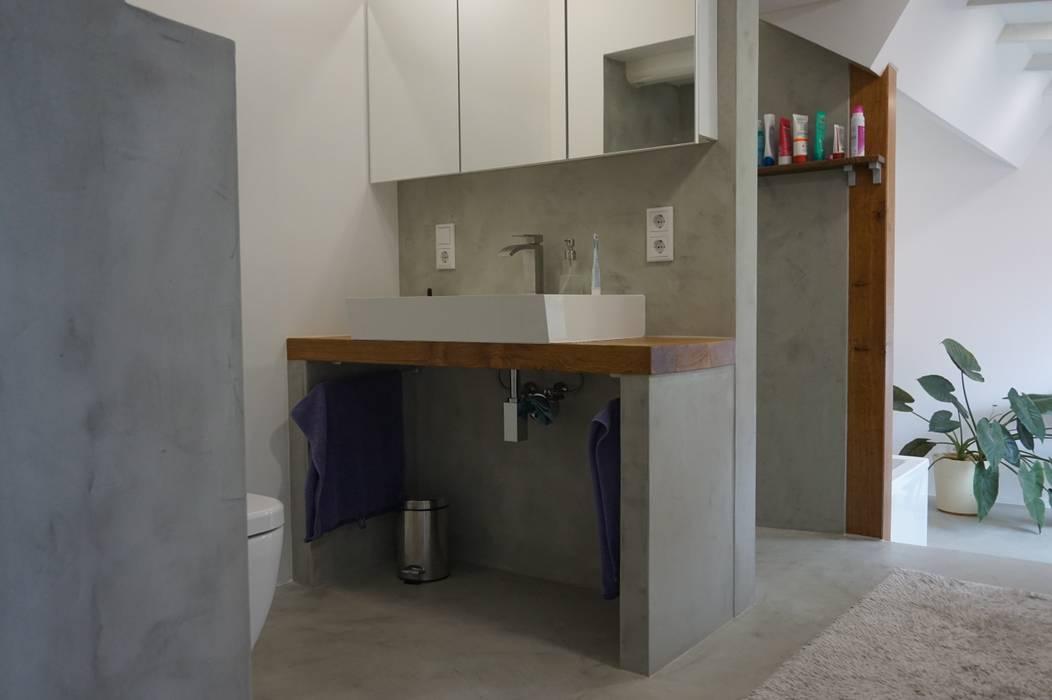Beton cire, micro topping concrete surface: badezimmer von robert ...