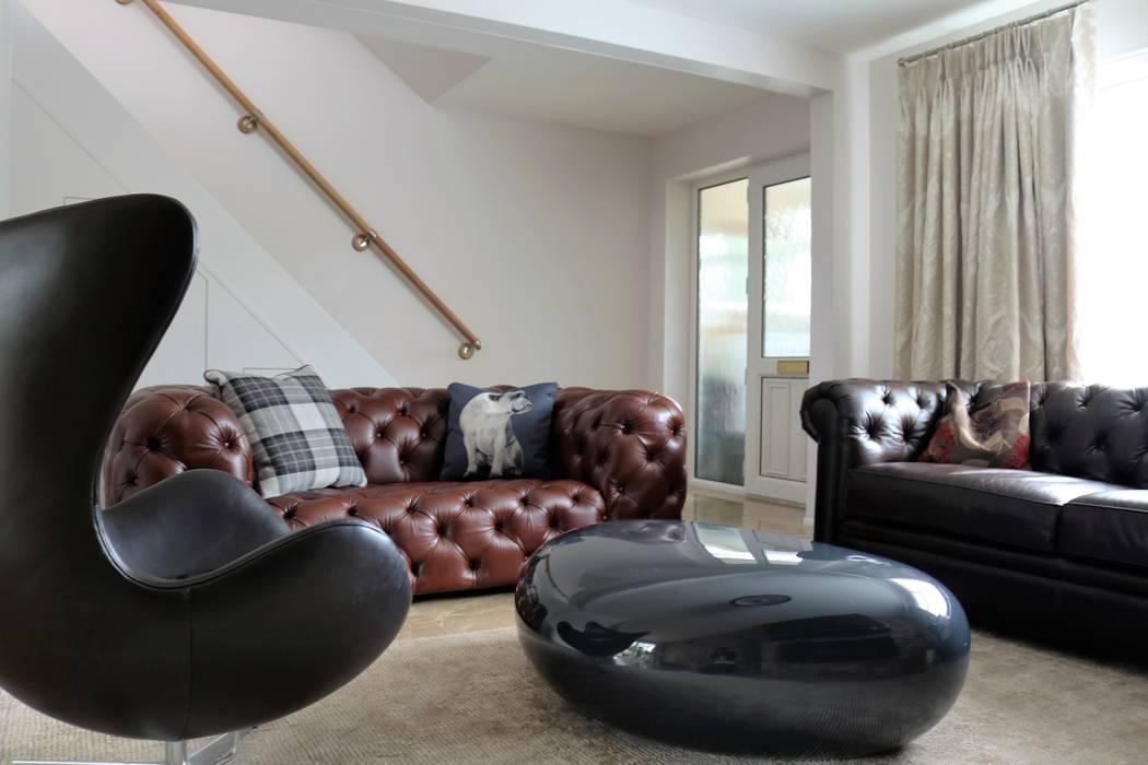 Living room interior design Salones de estilo moderno de Lena Lobiv Interior Design Moderno