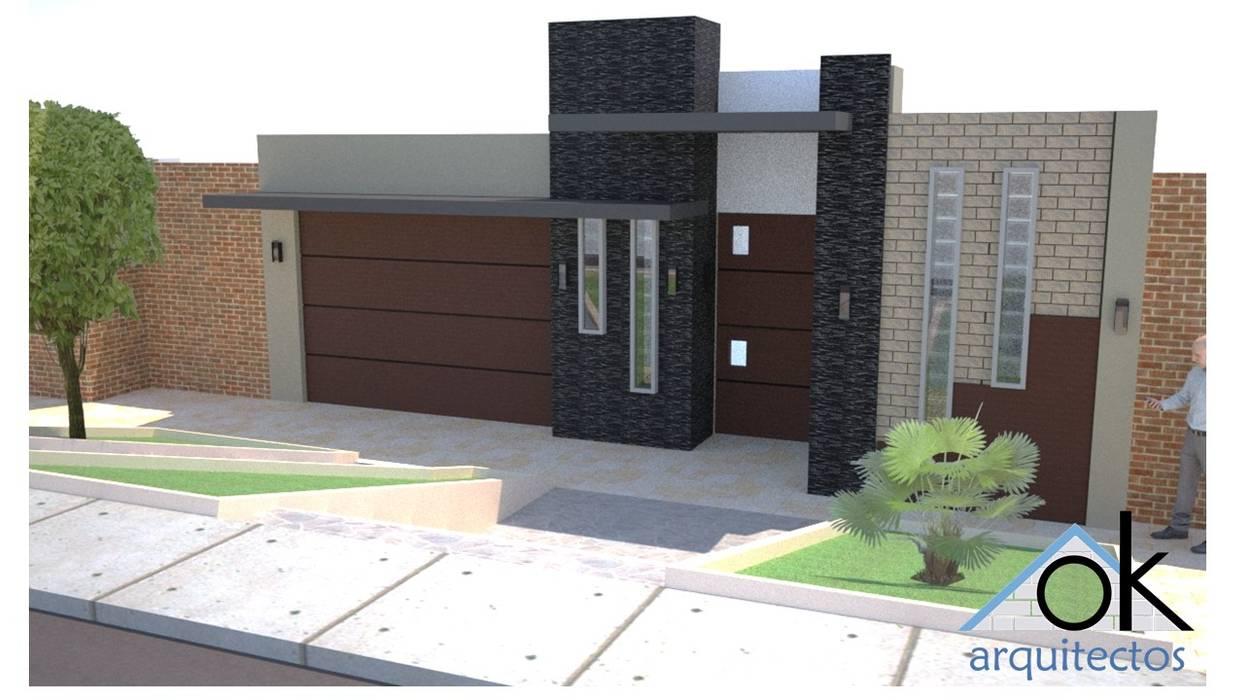Fachadas Okarq numero 1 Casas modernas: Ideas, diseños y decoración de homify Moderno