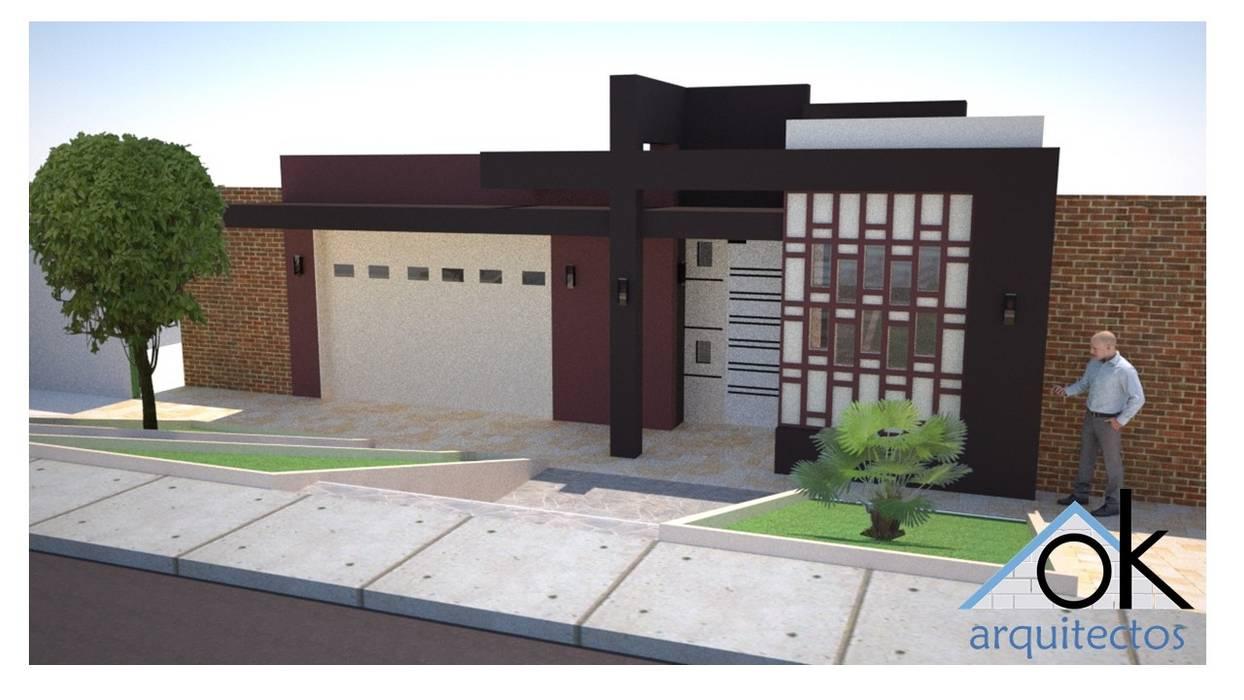 Fachadas Okarq numero 2 Casas modernas: Ideas, diseños y decoración de homify Moderno