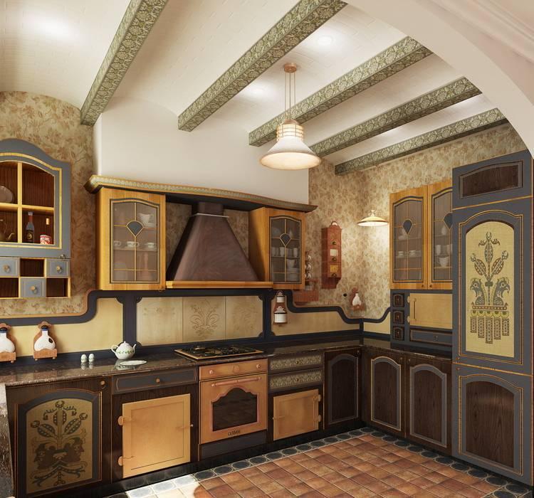 Cocinas de estilo colonial de ЙОХ architects Colonial
