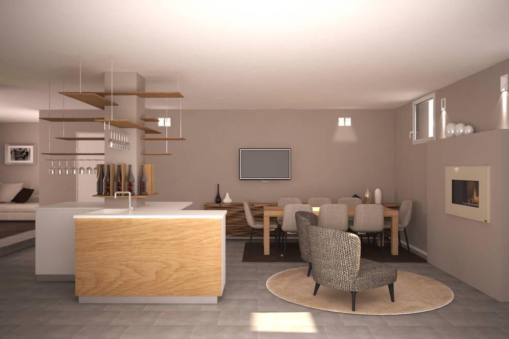 Visualizzazione 3d – taverna: soggiorno in stile di silvana barbato ...