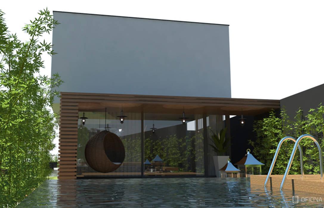 Casas Carvide Jardins modernos por OFICINA - COLECTIVO DE IDEIAS, LDA Moderno