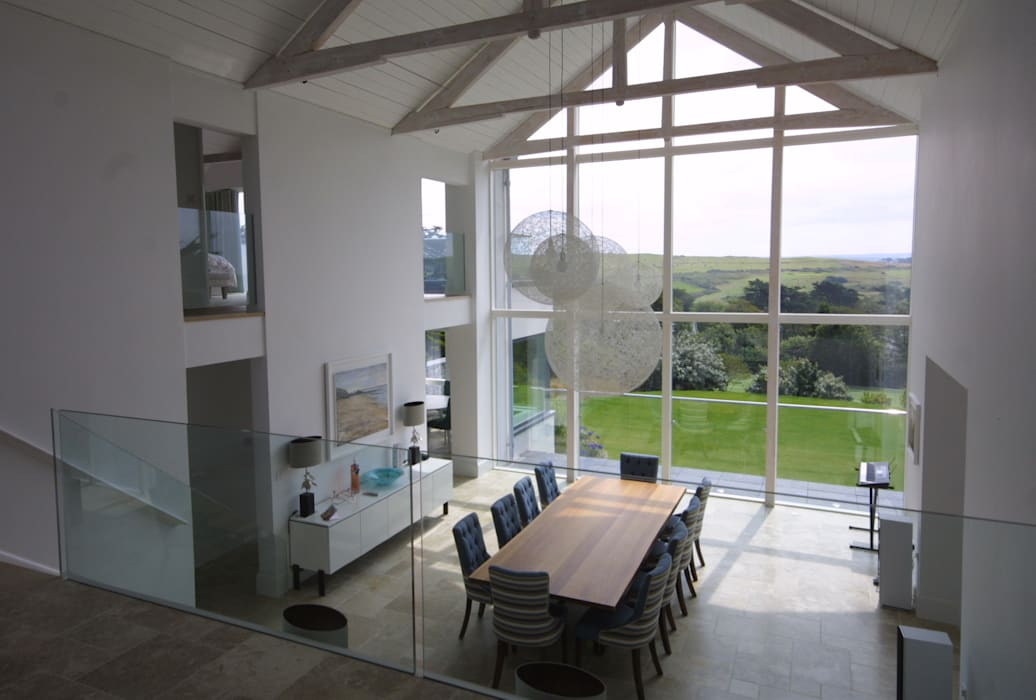 Replacement Dwelling in Trebetherick Cornwall by Arco2 Arco2 Architecture Ltd Modern dining room