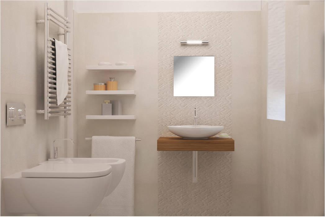 Visualizzazione 3D - bagno : Bagno in stile in stile classico di Silvana Barbato, StudioAtelier