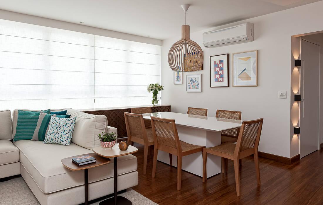Projeto Apartamento Jardins MBD: Salas de jantar  por Ambienta Arquitetura