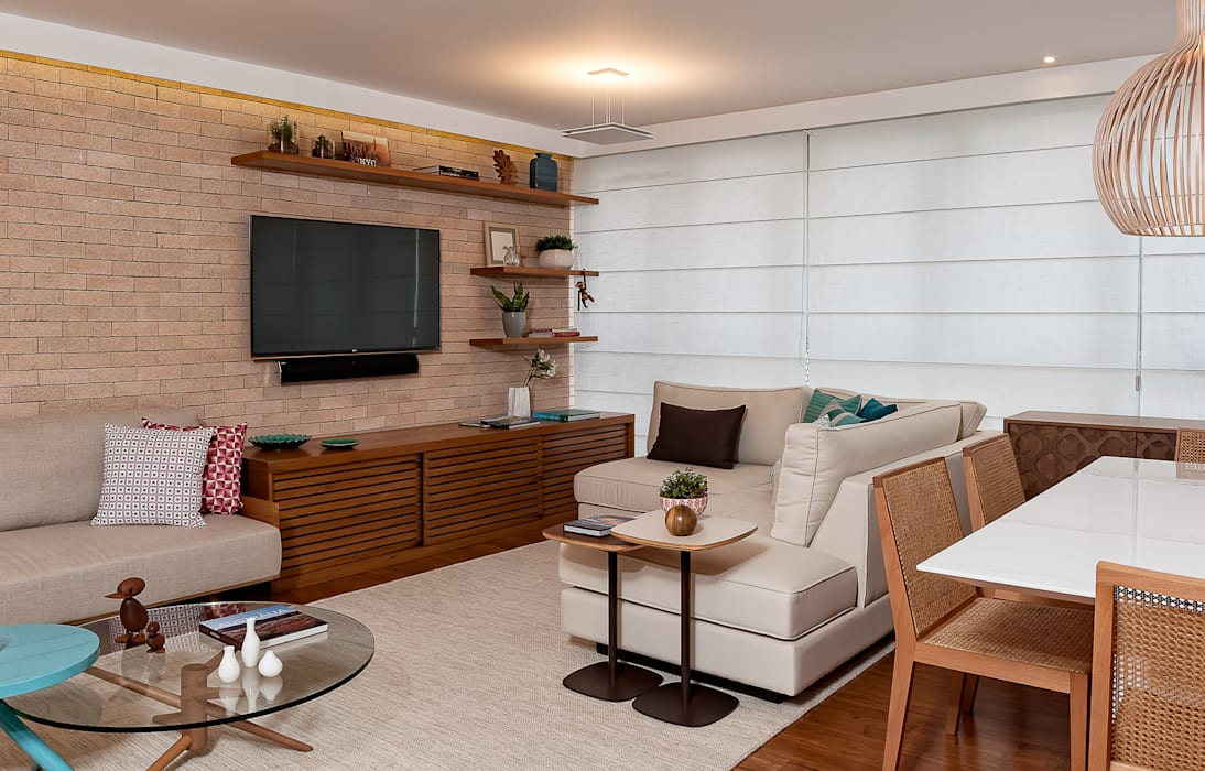Projeto Apartamento Jardins MBD Salas de estar modernas por Ambienta Arquitetura Moderno