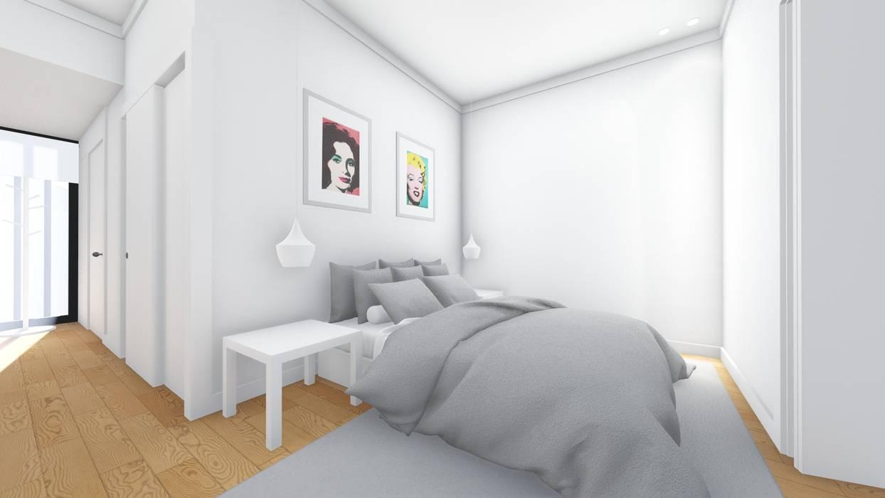 Interior - Apartamento tipo - Quarto: Quartos  por Arq. Duarte Carvalho