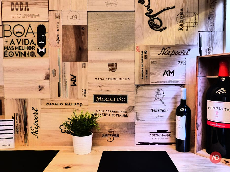 Wine Bar Espaços de restauração modernos por ARCHDESIGN | LX Moderno