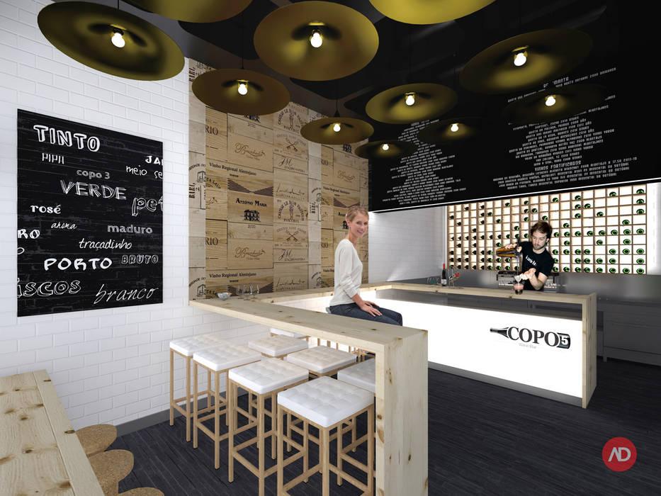 Wine Bar Espaços de restauração modernos por ARCHDESIGN LX Moderno