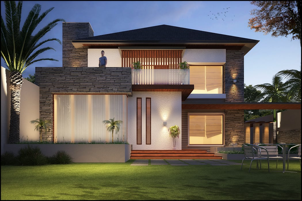 Mr. Pardeep :  Houses by Pixel Works,Tropical