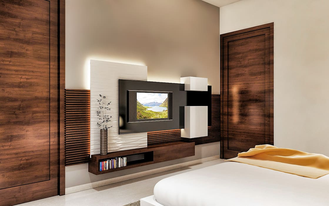 Lcd Panel Same As Like Bed Design By Square Designs Homify