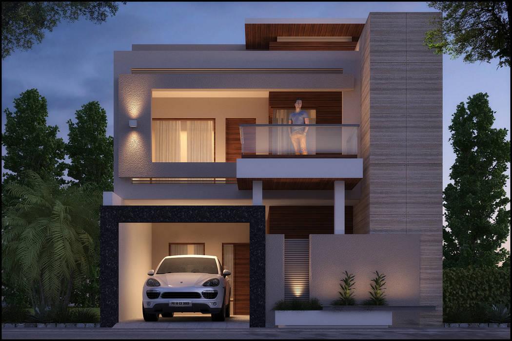 Mr. Aggarwal Modern houses by Pixel Works Modern