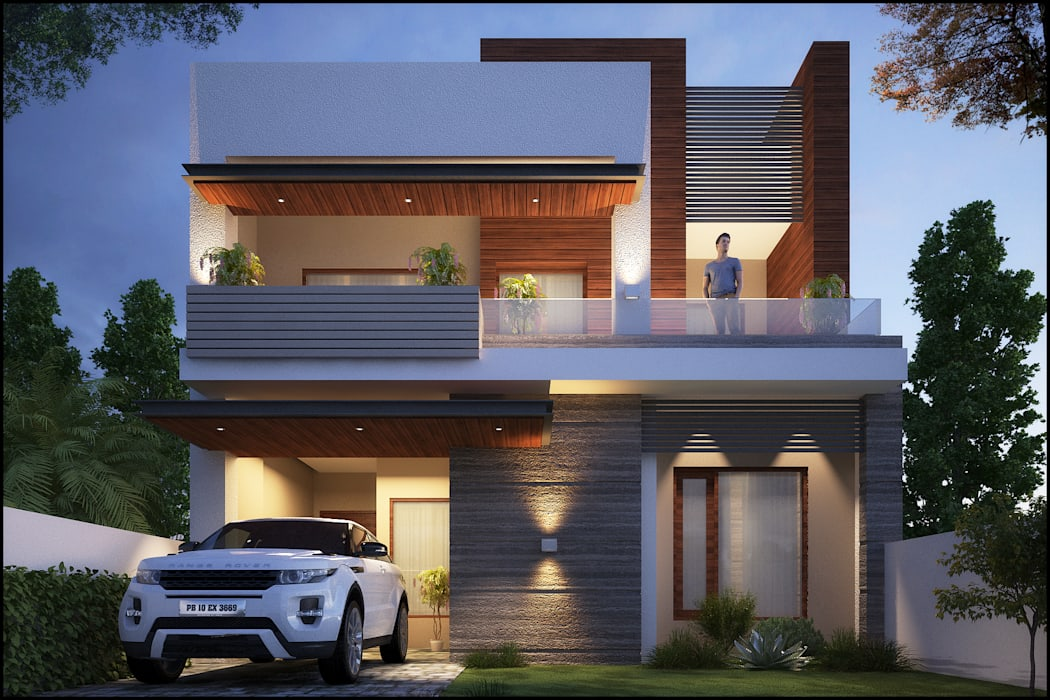 Mr. Goyal:  Houses by Pixel Works,Modern