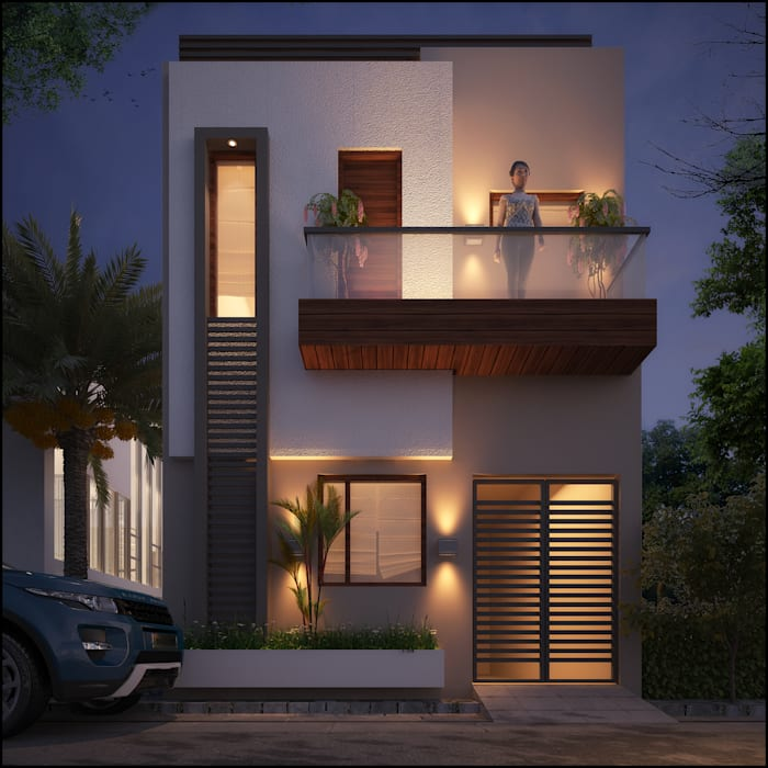 Mr. Kalsi Modern houses by Pixel Works Modern