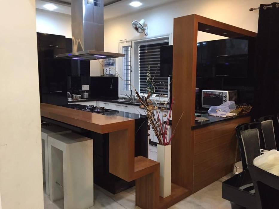 moduler kitchen  breakfast counter modern kitchen  square designs modern homify