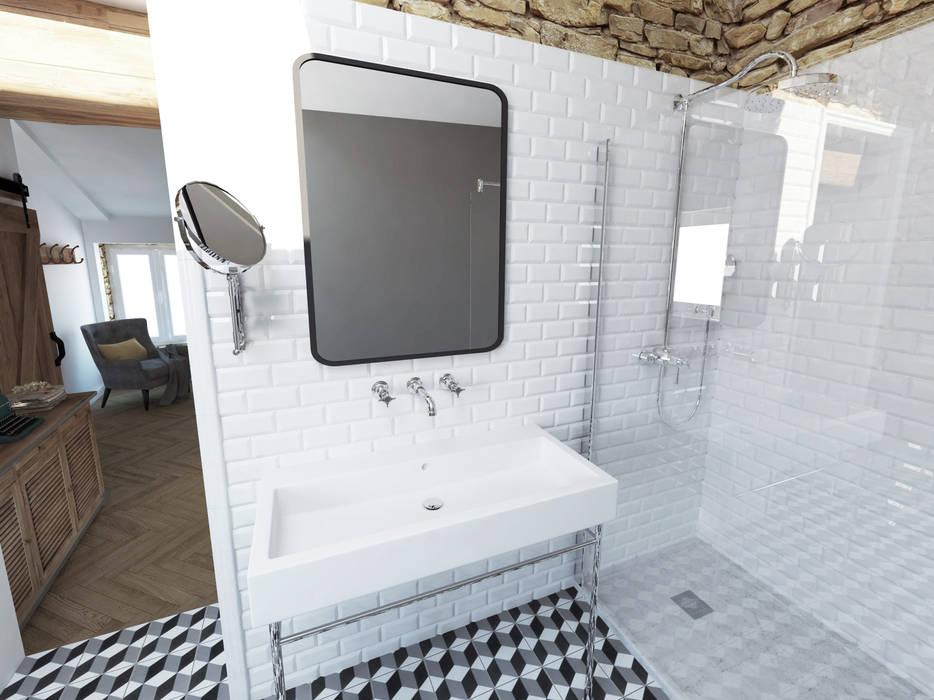 Aménagements pour chambres d'hôtes: Salle de bains de style  par La Fable