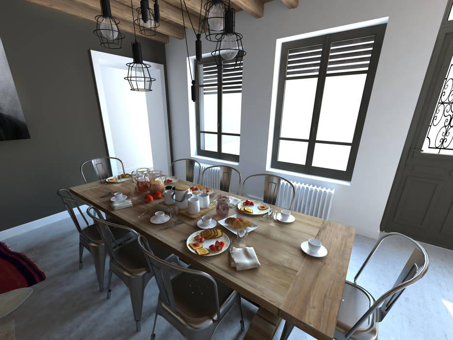 Aménagements pour chambres d'hôtes: Salle à manger de style  par La Fable