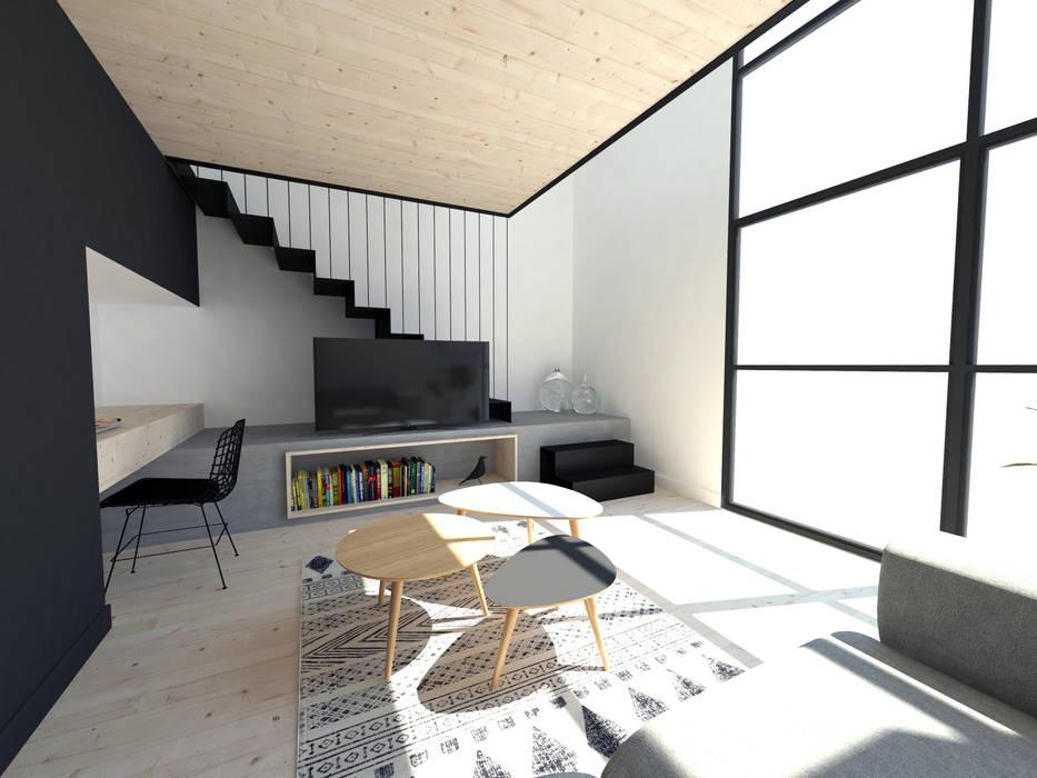 Extensions pour des chambres d'hôtes: Salon de style de style Minimaliste par La Fable
