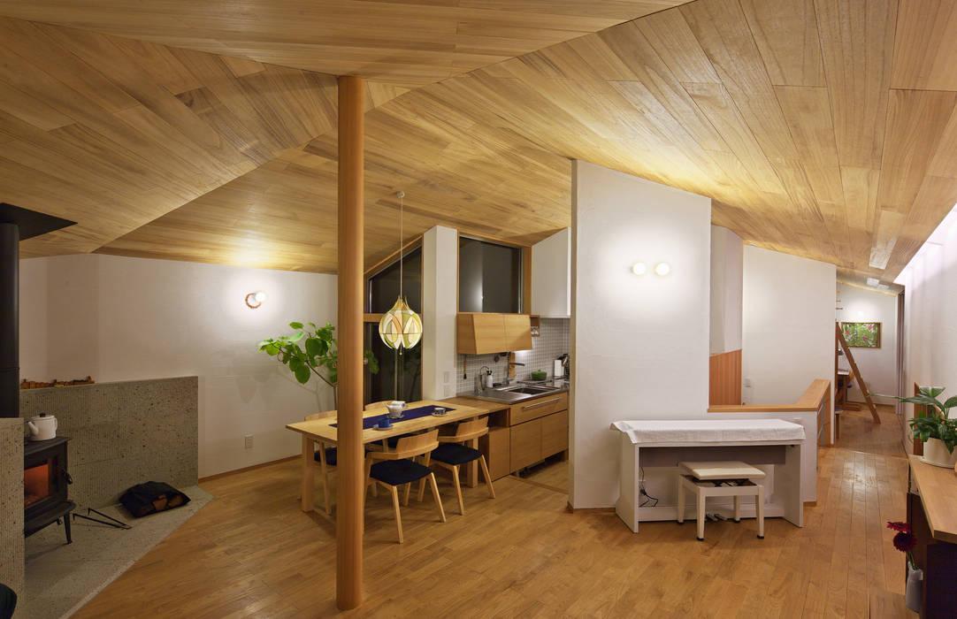 Salle à manger originale par かんばら設計室 Éclectique