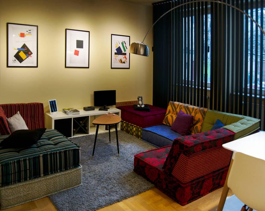Decoración interior de vivienda en Berlín Livings modernos: Ideas, imágenes y decoración de garcia navalon arquitecto Moderno