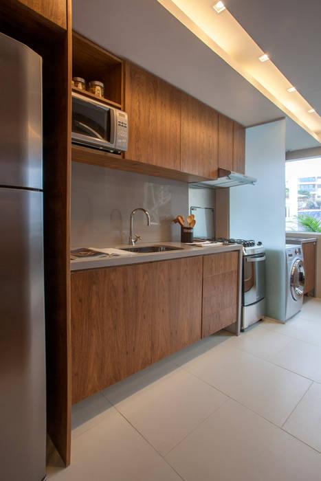 Apartamento decorado RJZ - 모던스타일 주방 by Gisele Taranto Arquitetura 모던