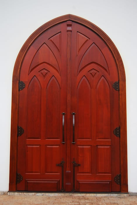 MBDesign Arquitetura & Interiores Country style windows & doors Solid Wood