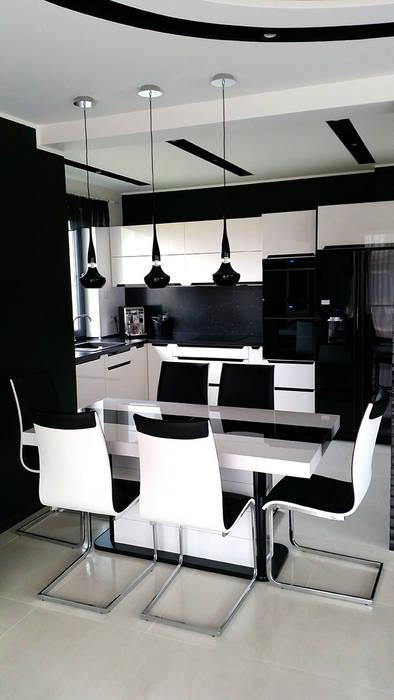 Столовая комната в стиле модерн от Biuro Projektów MTM Styl - domywstylu.pl Модерн