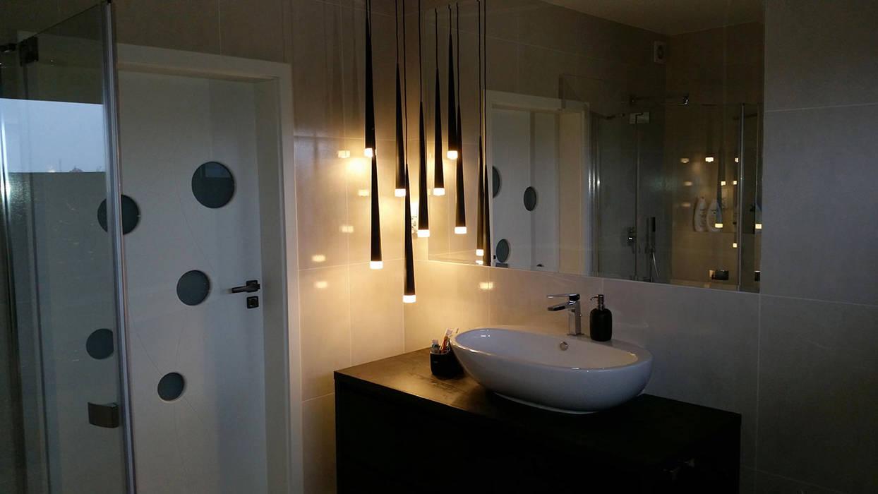 Realizacja projektu Cyprys Nowoczesna łazienka od Biuro Projektów MTM Styl - domywstylu.pl Nowoczesny