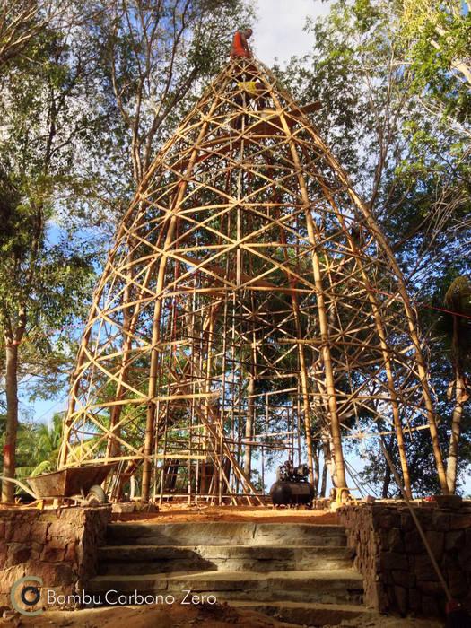 Construção BAMBU CARBONO ZERO Jardins rústicos Bambu Efeito de madeira